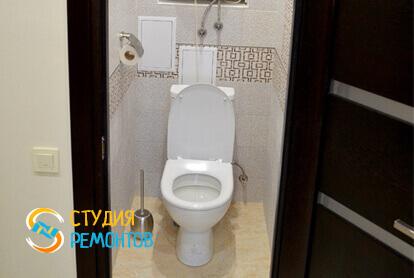 Косметический ремонт туалета в двухкомнатной квартире 43 кв.м.