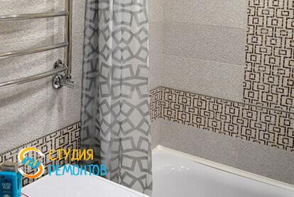Косметический ремонт ванной в двухкомнатной квартире 43 кв.м. фото 2