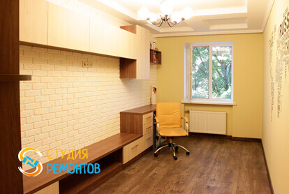 Косметический ремонт жилой комнаты в двухкомнатной квартире 43 кв.м. фото 1