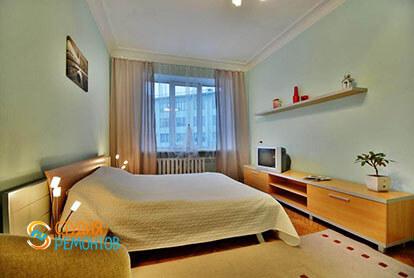 Евроремонт спальной комнаты в трехкомнатной квартире 78 кв.м. под ключ