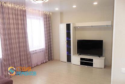 Ремонт гостиной в трехкомнатной квартире 64 м2 под ключ