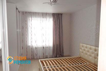Ремонт спальни в трехкомнатной квартире 64 м2 под ключ