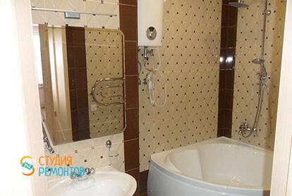 Ремонт ванной в трехкомнатной квартире 64 м2 под ключ