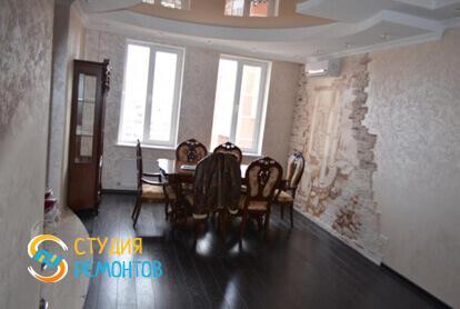 Капитальный ремонт гостиной в трехкомнатной квартире 56,7 кв.м. фото 1