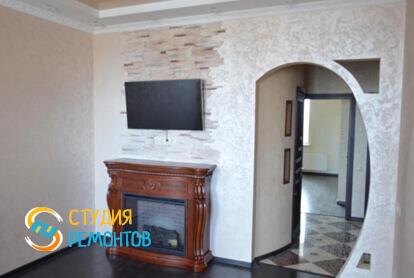 Капитальный ремонт гостиной в трехкомнатной квартире 56,7 кв.м. фото 2
