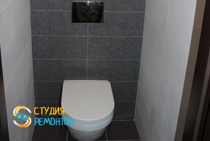 Капитальный ремонт туалета в трехкомнатной квартире 68,8 кв.м.