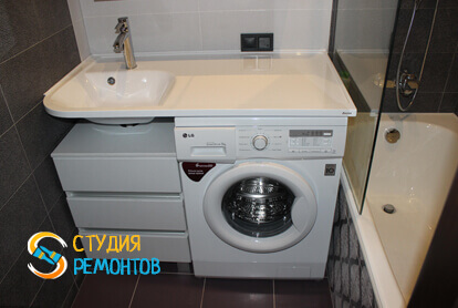 Капитальный ремонт ванной в трехкомнатной квартире 68,8 кв.м.