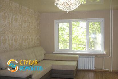 Косметический ремонт гостиной в трехкомнатной квартире 61,4 кв.м.