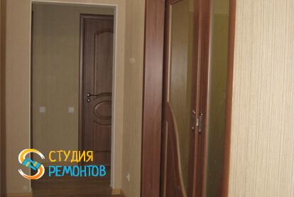 Косметический ремонт коридора в трехкомнатной квартире 61,4 кв.м.