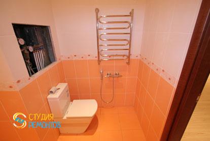 Евроремонт туалета в трехкомнатной новостройке 72,5 кв.м.