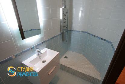 Евроремонт ванной в трехкомнатной новостройке 72,5 кв.м.