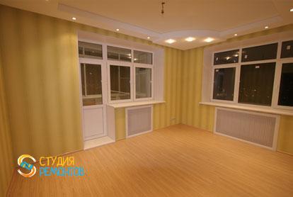 Евроремонт зала в трехкомнатной новостройке 72,5 кв.м.