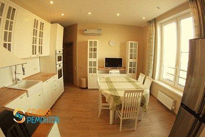 Капремонт кухни в 4-х комнатной квартире 93 м2 под ключ