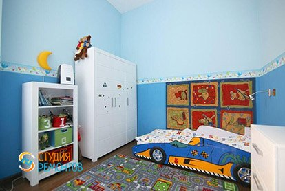 Ремонт комнаты для мальчика в 4-х комнатной квартире 87 м2 под ключ