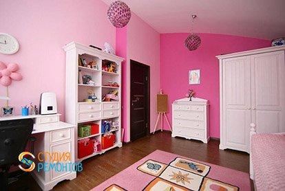 Ремонт комнаты для девочки в 4-х комнатной квартире 87 м2 под ключ