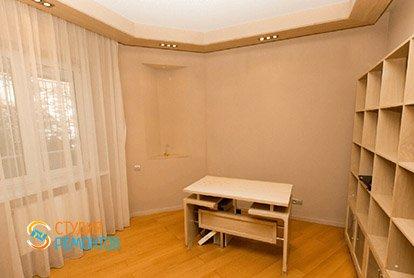 Ремонт кабинета в четырехкомнатной квартире 92 м2 в новостройке