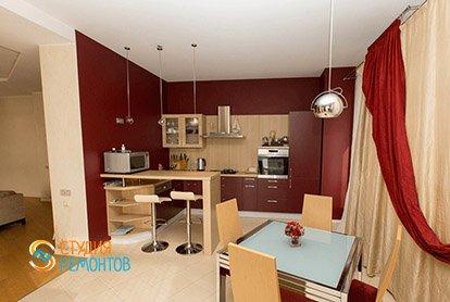 Ремонт кухни-столовой в четырехкомнатной квартире 92 м2 в новостройке, фото-1