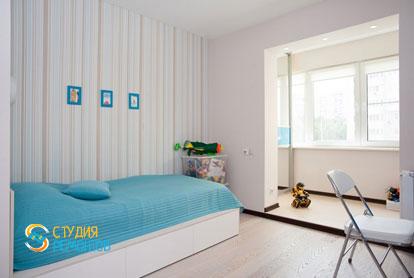 Евроремонт детской комнаты в 4-х комнатной квартире 72,5 кв.м. фото-1