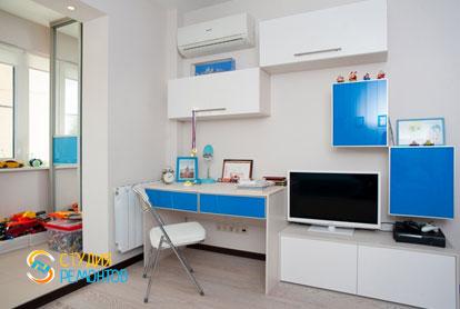 Евроремонт детской комнаты в 4-х комнатной квартире 72,5 кв.м. фото-2