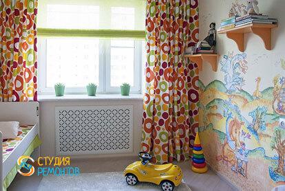 Евроремонт комнаты для ребенка в 4-х комнатной квартире 72,5 кв.м. фото-1