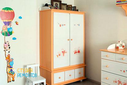 Евроремонт комнаты для ребенка в 4-х комнатной квартире 72,5 кв.м. фото-2
