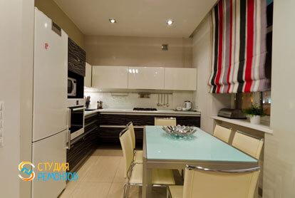 Евроремонт кухни-гостиной в 4-х комнатной квартире 87 кв.м. фото-2