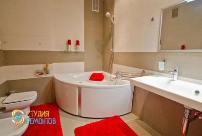 Евроремонт совмещенного санузла в 4-х комнатной квартире 87 кв.м.