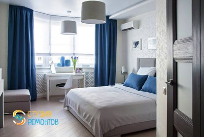 Евроремонт спальни в 4-х комнатной квартире 72,5 кв.м.