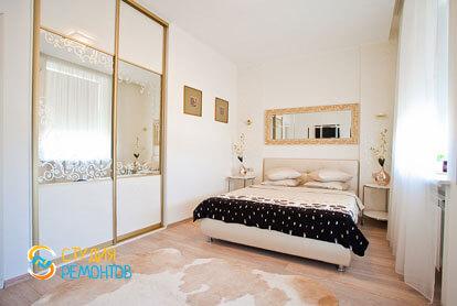 Евроремонт спальни в 4-х комнатной квартире 82 кв.м.