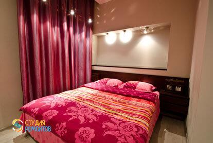 Евроремонт спальни в 4-х комнатной квартире 87 кв.м.