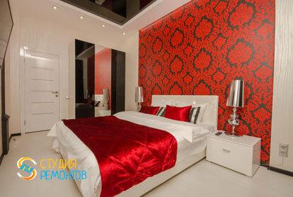 Евроремонт спальной комнаты в 4-х комнатной квартире 82 кв.м.