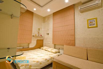 Евроремонт спальной комнаты в 4-х комнатной квартире 87 кв.м. фото-1