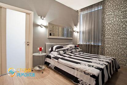 Евроремонт жилой комнаты в 4-х комнатной квартире 82 кв.м.