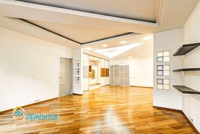 Евроремонт кухни с залом в 5 комнатной квартире 105 кв.м. под ключ, фото-1