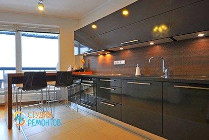 Евроремонт кухни в 5-комнатной квартире 95 кв.м.