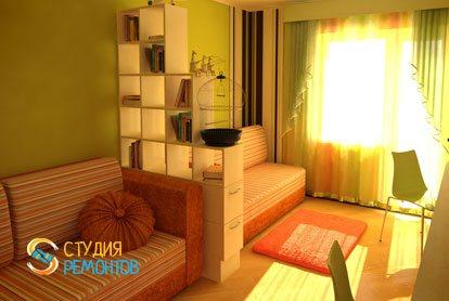 Евроремонт детской комнаты для девочки 11 кв.м. фото-1