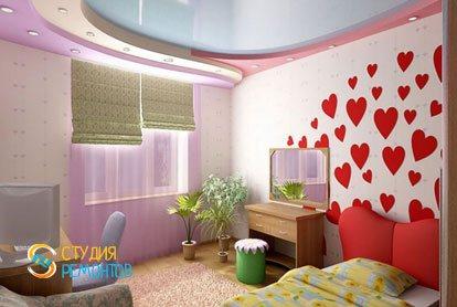 Ремонт детской комнаты для девочки 10 кв.м.