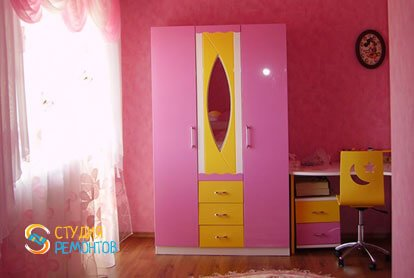 Капитальный ремонт детской комнаты для девочки 9 кв.м.