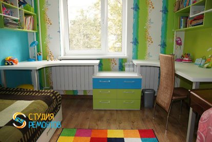 Капитальный ремонт детской комнаты для девочки 9 м2