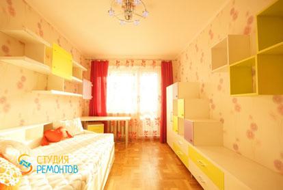 Косметический ремонт детской комнаты для девочки 13 кв.м.