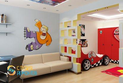 Евроремонт комнаты для мальчика 16 кв.м.