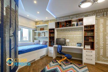 Евроремонт детской комнаты для мальчика 14 кв.м.