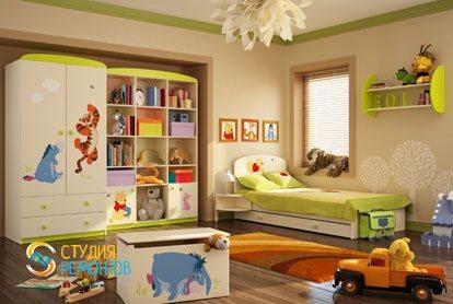 Евроремонт детской комнаты для мальчика 16 кв.м.