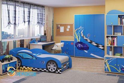 Евроремонт детской комнаты для мальчика 17 кв.м.