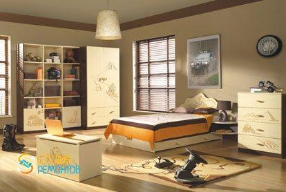 Евроремонт детской комнаты для мальчика 18 кв.м.