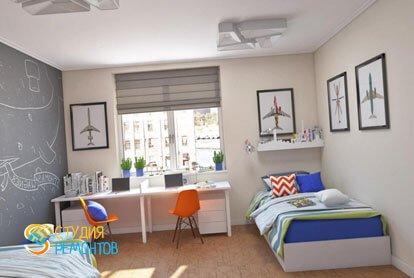 Капитальный ремонт детской комнаты для мальчика 11 кв.м.