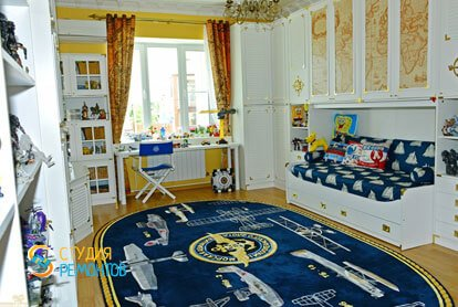 Ремонт детской комнаты для мальчика под ключ 12 кв.м.
