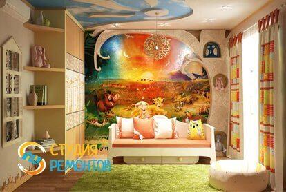 Евроремонт детской комнаты 7 кв.м.