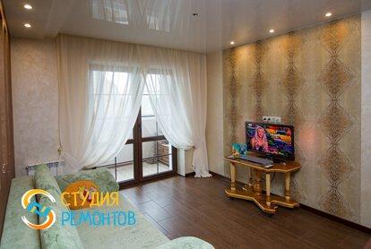 Евроремонт гостиной комнаты 18 м2 фото-1