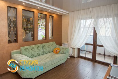 Евроремонт гостиной комнаты 18 м2 фото-2